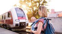 kobieta podróżująca z dzieckiem